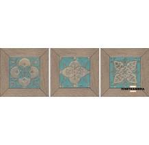 Меранти Вставка беж мозаичный ID58 13х13