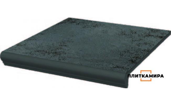 Semir Grafit Ступень прямая с капиносом структурная  30x33