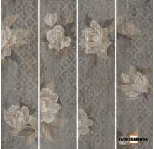 Поджио Цветы коричневый обрез SG704400R 20x80