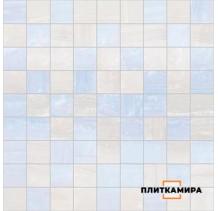 Diadema Мозаика голубой+белый 30x30