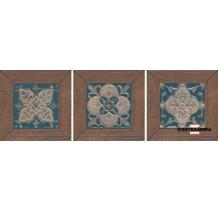 Меранти Вставка беж темный мозаичный ID59 13x13